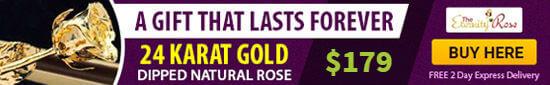 gold rose anniversary gift